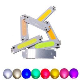 montagem de superfície led diodo Desconto 10pcs 2W LED CAR dia COB Running luz 60 * 15mm Branco Quente Azul Verde Vermelho Branco laranja violeta talão 12-14V Chip Frete grátis