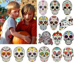 2019 padrões de tatuagem de pé Tatuagens temporárias Body Art Crânio Cabeças Adesivos À Prova D 'Água Paródia do Rosto Do Braço Presentes Da Beleza Do Partido Hallowmas Decoração