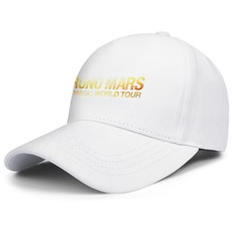 magic red balls Coupons - Bruno Mars 24k Magic World Tour white mens and women trucker cap ball cool fitted design your own hats