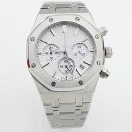 Clavijas de reloj online-7 colores, 6 pines, reloj de cuarzo, roble real, dial pequeño, botón de trabajo disponible, hombres, 41 mm, movimiento de garrapatas, reloj de acero inoxidable, relojes con batería