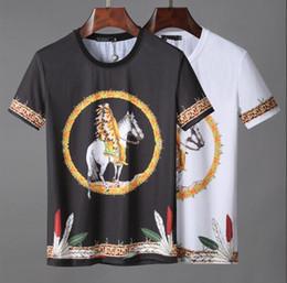 19ss мода индийская езда печати футболки мужчины высокое качество хлопок летний стиль шорты футболки Мужская одежда женщины тройник топы от