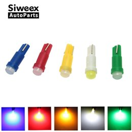 2019 medidores de luz roja 20 unids T5 1 led DC12V Cerámica Tablero de instrumentos Instrumento Ceramic Car Auto Side Wedge Light Lamp Bulb Red / Green / Yellow / Blue / White medidores de luz roja baratos