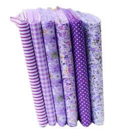 Argentina telas de montón Hoomall 6/7 / 8PCs Paño de tela de algodón púrpura DIY Hecho a mano Decoración para el hogar Material de acolchado Telas baratas para remiendos Coser 25x ... Suministro