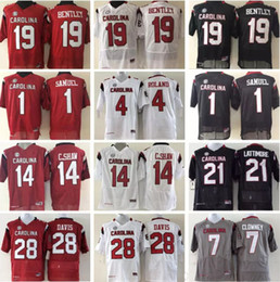 clowney jerseys Promo Codes - South Carolina Gamecock Men 1 Deebo Samuel 19 Jake Bentley 28 Davis 4 Roland 7 Clowney 21 Lattimore 14 C.Shaw Football Jerseys