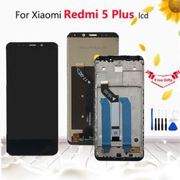 "Pantalla de visualización xiaomi online-5.99 ""Para Xiaomi Redmi 5 Plus Pantalla LCD completa + Ensamblaje de digitalizador de pantalla táctil + Cubierta de marco para Redmi 5 Plus Reemplazo de LCD"