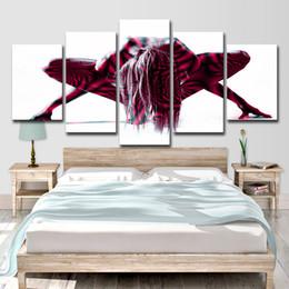 Nudo arte vernice corpo online-HD stampato 5 pezzo tela arte donna nuda dipinta body art pittura immagini a parete per soggiorno