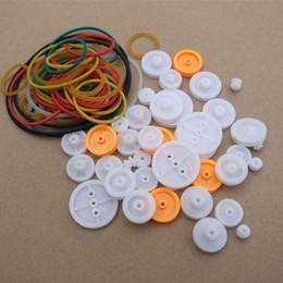 1 комплект кожаный ремень колеса поставляет резиновый ремень резинкой пластиковый блок шкива модель аксессуары DIY небольшой шкив от