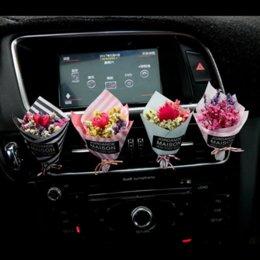 2019 ambientador de habitación Interior del coche Ambientador Creativo Eterno Flor Aire Acondicionado Salida Perfume Adornos preciosos # LQ1175