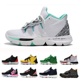 307ec70cf89 2019 Kyrie Men 5 Basketball Shoes for Cheap Sale Irving 5s Sneakers Sports  Mens Shoe Wolf Grey Team Red Outdoor Trainers BasketBall Shoes