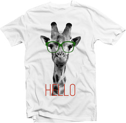 2019 occhiali da giraffa Giraffa a vita bassa | Occhiali | T-shirt | Compra e aggiungi un po 'di stile al tuo guardaroba! Divertente spedizione gratuita Tshirt Unisex Casual occhiali da giraffa economici