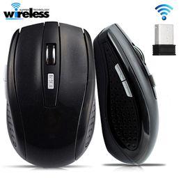 2019 ratón lindo para la computadora 607 USB inalámbrico de juego del ratón 2000DPI receptor óptico ajustable de 2,4 GHz ratón de la computadora ergonómico ratones para el ordenador portátil del ratón