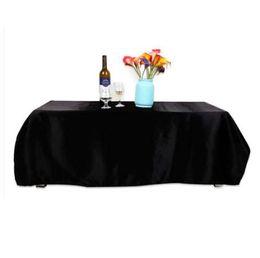 tovaglia all'ingrosso del cotone Sconti Nuovo 145x145CM Tovaglia Poliestere Tovaglia quadrata Home Banquet Diserbante Copertura Decorativa per la tavola Tessili per la casa Nero Bianco