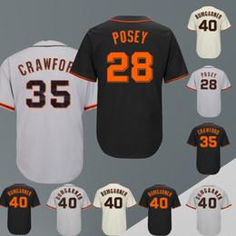 b719f19f5 Latest version San Francisco Giants Baseball Jerseys Stitched 28 Buster  Posey 35 Brandon Crawford 40 Madison Bumgarner embroidery logo
