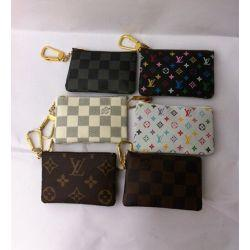 wholesale diamond keys Coupons - Hotsales letter PU Leather women men short wallet without box classic lattice key card holders women coin wallet