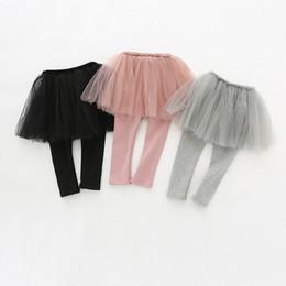 7ea39312d39 black skirted leggings UK - Girls Skirt Leggings 2019 Spring Baby Clothing  Girls Leggings Pants Mesh