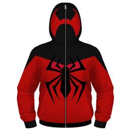 Hoodie Scarlet Örümcek Cosplay Ultimate Animasyon Serisi Kazak Zip Up Maskeli Uzun Kollu Hoodie Çocuklar nereden