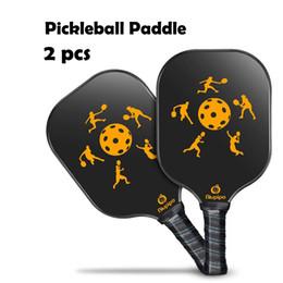 ab24f7e81 raquete de grafite Desconto 2 PCS Grafite Pickleball Pás De Fibra De  Carbono Rosto Pickleball Racquet