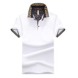 мужские рубашки оптом Скидка Бренд Дизайн мужская футболка Летний отложной воротник с короткими рукавами Хлопок Оптовая футболка Мужская топ с v-образным вырезом
