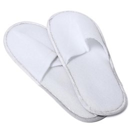 Chinelos convidados on-line-Hot Sale-SCYL 10 Pair Hotel Travel Spa Disposable Slippers Home Guest Slippers