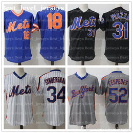 дешевая ретро сетка 34 Noah Syndergaard Jersey 18 Darryl Strawberry 52 Cespedes Majestic 16 Dwight GoodenNew York Jerseys Mets горячие продажи от