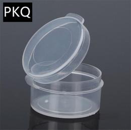 150pcs / lot Boîte de rangement en plastique transparent Diamètre 2.9cm Boîte d'emballage de bijoux artisanat avec couvercle Petit récipient en perle ? partir de fabricateur