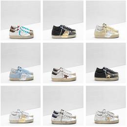Zapatos ggdb online-2019 Golden Goose Deluxe Brand GGDB diseñador zapatillas de deporte de moda de cuero genuino para mujer para hombre zapatos casuales Gooses Trainer Hi Star 36-46