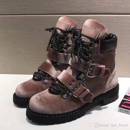 Automne Hiver Chaussures à lacets pour femmes Bottes Martin Talon plat en cuir véritable Botte de moto en métal pour femme ? partir de fabricateur