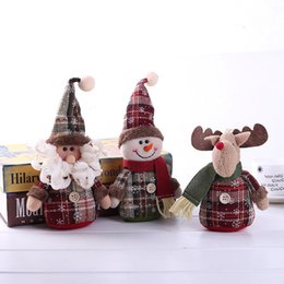 2019 куклы санта-клауса Рождество Санта-Клаус Кукла Украшения Рабочего стола Снеговик Игрушки Рождественская Елка Декор Кукла Дети Рождественский Подарок Снеговик Лось Игрушки Санта-Клауса BH0356 TQQ скидка куклы санта-клауса