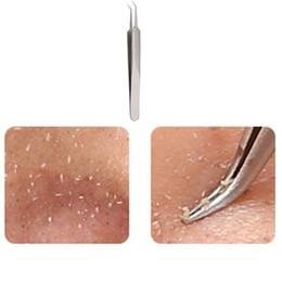 Utile en acier inoxydable courbe droite Blackhead incurvée acné Clip Tweezer Pimple Comedone Remover Kit Nettoyant Visage ? partir de fabricateur