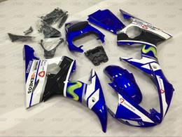 2019 yamaha r6 corpo inteiro YZF R6 2003 Full Body Kits YZFR6 2003-2005 Azul Branco Motos carenagem para YAMAHA YZFR6 2004 Plastic carenagens desconto yamaha r6 corpo inteiro