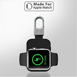 Mini portable iphone externe aufladeeinheit online-QI Wireless Charger Power Bank für iWatch 1 2 3 4 Mobiler Mini-Akku mit externem Schlüsselbund für Apple Watch Wireless Charger