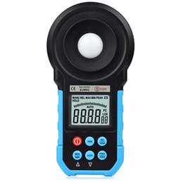 2019 medidores de lux Medidor de iluminancia BSIDE ELM02 LCD digital Lux FC Medidor Probador de iluminancia de luz Rango automático Instrumento eléctrico profesional rebajas medidores de lux
