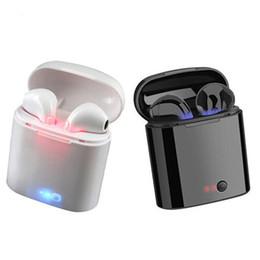 A buon mercato Mini I7s TWS Twins True Wireless Auricolari Sport Bluetooth V5.0 Auricolare con cuffia microfono per iPhone Android da bluetooth blu lg fornitori