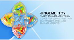 bolas de laberinto Rebajas El amor en forma de corazón en tres dimensiones bola de laberinto 50 con llavero laberinto de bolas de bolas regalos creativos pequeños juguetes de las materias primas