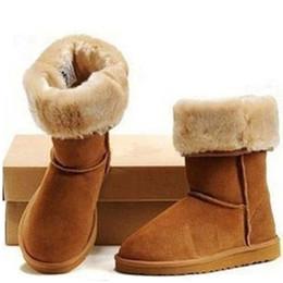 Botas clásicas de piel de oveja online-2019 Classic WGG Boots Shoes Christmas Woolkin Lana de Australia Diseñador de Australia para hombres y mujeres Zapatos de marca de lujo