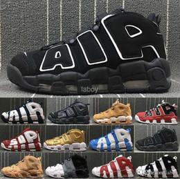 best sneakers 75244 c40fc 2019 Neu Mehr Uptempo 96 QS Olympic UNC Herren-Basketball-Schuhe 3M Herren  Scottie Pippen Designermarke Christmas Trainers Sneakers