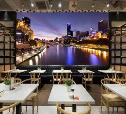 Nacht stadt fotos online-Individuelle Fototapete European Style City Night Glow Sunset Fototapete Wohnzimmer Schlafzimmer Fototapete