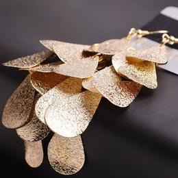 La vendita calda Europa e in America retrò semplice goccia scale orecchini all'ingrosso earringsGift indiano lucido per il partito delle donne di nozze Brincos gioielli da
