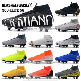 Nuove scarpe da calcio alte da uomo Superfly 6 Elite CR7 SE SG Scarpe da calcio Mercurial Superfly VI 360 Neymar NJR ACC Scarpe da calcio