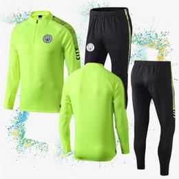 Учебные логотипы онлайн-19/20 Новый 10 Kun Aguero City Soccer Set Спортивные костюмы 7 Спортивный костюм Sterling Football 17 De Bruyne 19 Логотип вышивки Sane