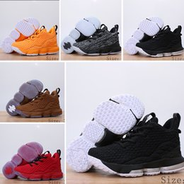 22ede63b6f753 NIike Lebron XV EP 15 2019 Nouveaux Enfants 15 LA Chaussures De Basketball  Grands Garçons Filles Enfants Jeunesse Violet Gris Jaune Los Angeles King  ...