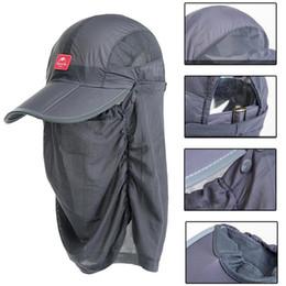 casquette de tête de plage Promotion 2019 chapeau de pêche avec masque de pêche en plein air tête de moustique filet jungle visage masque de pêche avec filet chapeau d'été pour femmes chapeau de soleil pour femmes Sun Beach