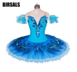 2019 trajes de aves azuis Pássaro azul variação tutu adulto meninas profissional tutus de balé azul clássico traje de palco para panqueca tutu saiaBT9027 trajes de aves azuis barato