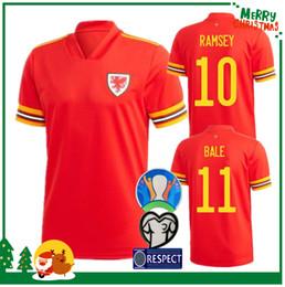 camisas de gales Desconto 2020 País de Gales jersey camisa de futebol 2019 BALE James Ramsey Sports futebol em casa