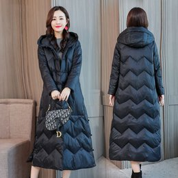 Fashion Chinese Style Long Womens Down Parka Jackets Warm Loose Winter Coat Female Women Puffer Jacket Plus Size Hood Harajuku LY191128