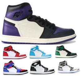zapatos púrpuras del satén Rebajas 1 1s Zapatillas de baloncesto High OG Mid Jumpman Bred Top 3 Gold Toe Chicago UNC Satin Kawhi Leonard Purple Nuevo 2019 Zapatos Zapatillas