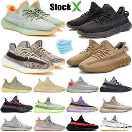 habiller les chaussures de ballet Promotion Yecheil Yeezreel Cloud White Citrin Synth Lundmark Antlia Black Static Reflective Kanye West chaussures de sport hommes femmes baskets sneakers 36-48