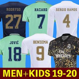 fußballhemd real madrid Rabatt Fußball Trikots Real Madrid 19 20 Gefahr JOVIC MILITAO soccer jersey T-Shirt 2019 2020 kids VINICIUS JR ASENSIO Fußball Trikot Kinder MARCELO ISCO T-Shirt