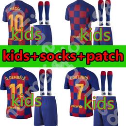 2019 camisa ozil alemanha Barcelona crianças kit de futebol Jerseys meninos juventude 19 20 PIQUE MESS Suárez O DEMBELE COUTINHO MALCOM 2019 2020 menino conjunto Camisa de futebol Nino
