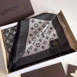 bufandas de inglaterra Rebajas Bufanda de lujo Patrón de letra Bufanda de mujer Seda de algodón Bufanda de diseño Chal para mujer Bufandas calientes Tamaño 140x140cm